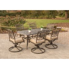 Traditions 7 Piece Dining Set with Cushion