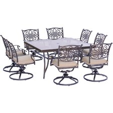 Coupon Traditions 9 Piece Dining Set with Cushions