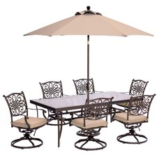 Traditions 7 Piece Dining Set with Cushions