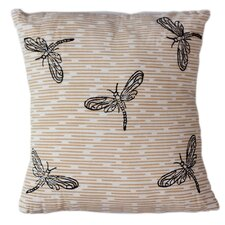 Cool Dragonflies Cotton Throw Pillow