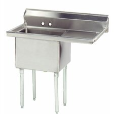 "Economy 38.5"" x 23.75"" Single Fabricated Bowl Scullery Sink"