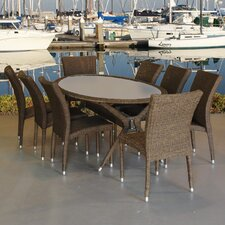 Reviews Bari 9 Piece Dining Set