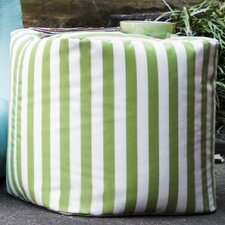 Jaxx Striped Outdoor Pouf Ottoman