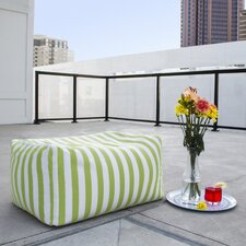 Leon Outdoor Striped Bean Bag Ottoman