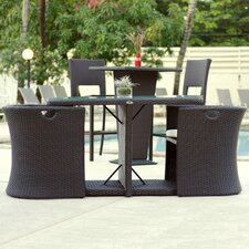 Great Reviews Boynton 3 Piece Outdoor Dining Set with Cushions