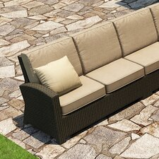 Barbados Left Arm Facing Sectional Loveseat with Cushions