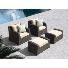 Marisol 4 Piece Lounge Chair Set with Cushions