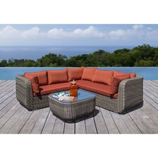Wonderful Salinas 4 Piece Deep Seating Group with Cushion