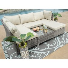 Codee 4 Piece Sectional Seating Group with Cushions