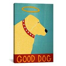 Good Dog by Stephen Huneck Graphic Art on Canvas in Yellow and Blue