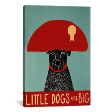 Little Dogs Are Big by Stephen Huneck Painting Print on Wrapped Canvas