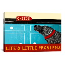 Life's Little Problems Banner by Stephen Huneck Painting Print on Wrapped Canvas