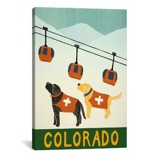 Colorado Ski Patrol by Stephen Huneck Graphic Art on Wrapped Canvas