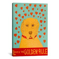 Golden Rule 1 by Stephen Huneck Painting Print on Wrapped Canvas