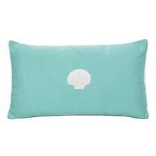 Scallop Beach Outdoor Sunbrella  Lumbar Pillow