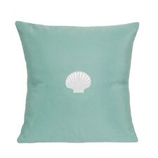 Read Reviews Scallop Indoor/Outdoor Sunbrella Throw Pillow