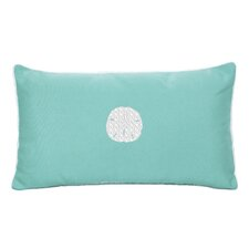 Sand Dollar Beach Sunbrella Outdoor Lumbar Pillow
