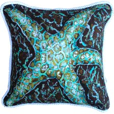 Savings Mosaic Starfish Indoor/Outdoor Throw Pillow