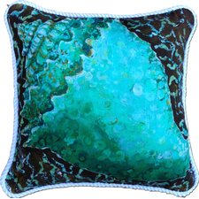 Conch Shell Indoor/Outdoor Throw Pillow