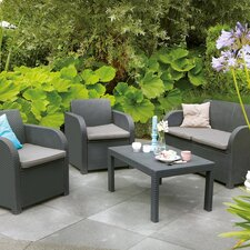 2017 Online Oklahoma 4 Piece Lounge Seating Group with Cushion