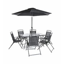 Memphis Steel 8 Piece Dining Set