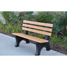 Comfort Park Avenue Recycled Plastic Park Bench