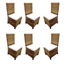 Carlton Rattan Wicker Dining Side Chair (Set of 6)