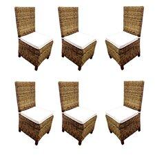 Carlton Rattan Wicker Dining Side Chair (Set of 6)
