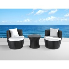 Capri 3 Piece Seating Group with Cushion