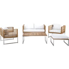 Bermuda Luxury 5 Piece Deep Seating Group with Cushions