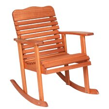 Red Grandis Style Rocking Chair