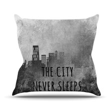 The City Never Sleeps Outdoor Throw Pillow