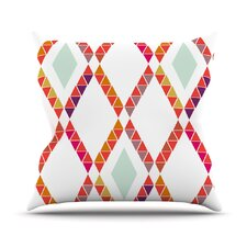 Aztec Diamonds Geometric Outdoor Throw Pillow