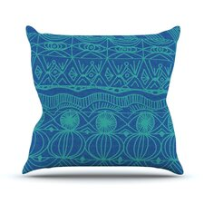 Beach Blanket Confusion Outdoor Throw Pillow