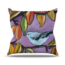 Mockingbird Outdoor Throw Pillow