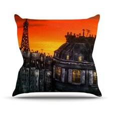Paris Outdoor Throw Pillow