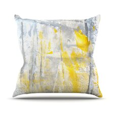 Spacial Price Abstraction Outdoor Throw Pillow