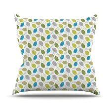 Tangled Teal Outdoor Throw Pillow
