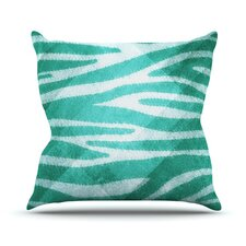 Zebra Print Texture Outdoor Throw Pillow
