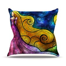 Starry Lights Outdoor Throw Pillow