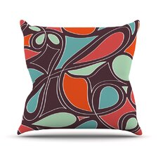 Retro Swirl Outdoor Throw Pillow
