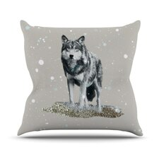 Wolf Outdoor Throw Pillow
