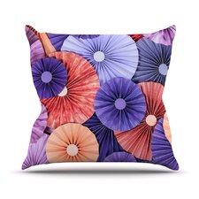 Raspberry Sherbert Outdoor Throw Pillow