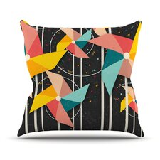 Colorful Pinwheels Abstract Outdoor Throw Pillow