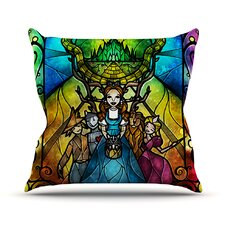 Wizard of Oz Fantasy Outdoor Throw Pillow