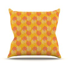 Wild Summer Dandelions Circles Outdoor Throw Pillow