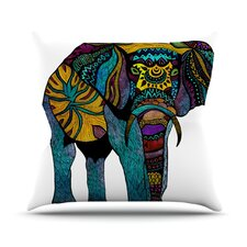 Elephant of Namibia Outdoor Throw Pillow