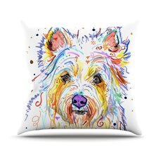 Bella Scottish Terrier Outdoor Throw Pillow