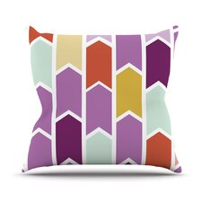 Orchid Geometric Chevron Arrows Outdoor Throw Pillow