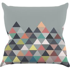 Nordic Combination Abstract Outdoor Throw Pillow